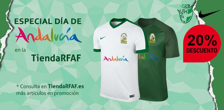 La Tienda Oficial de la Real Federación Andaluza de Fútbol quiere celebrar  el Día de Andalucía y para ello pone a disposición de todos los usuarios un  ... e0bf045f7fcf5